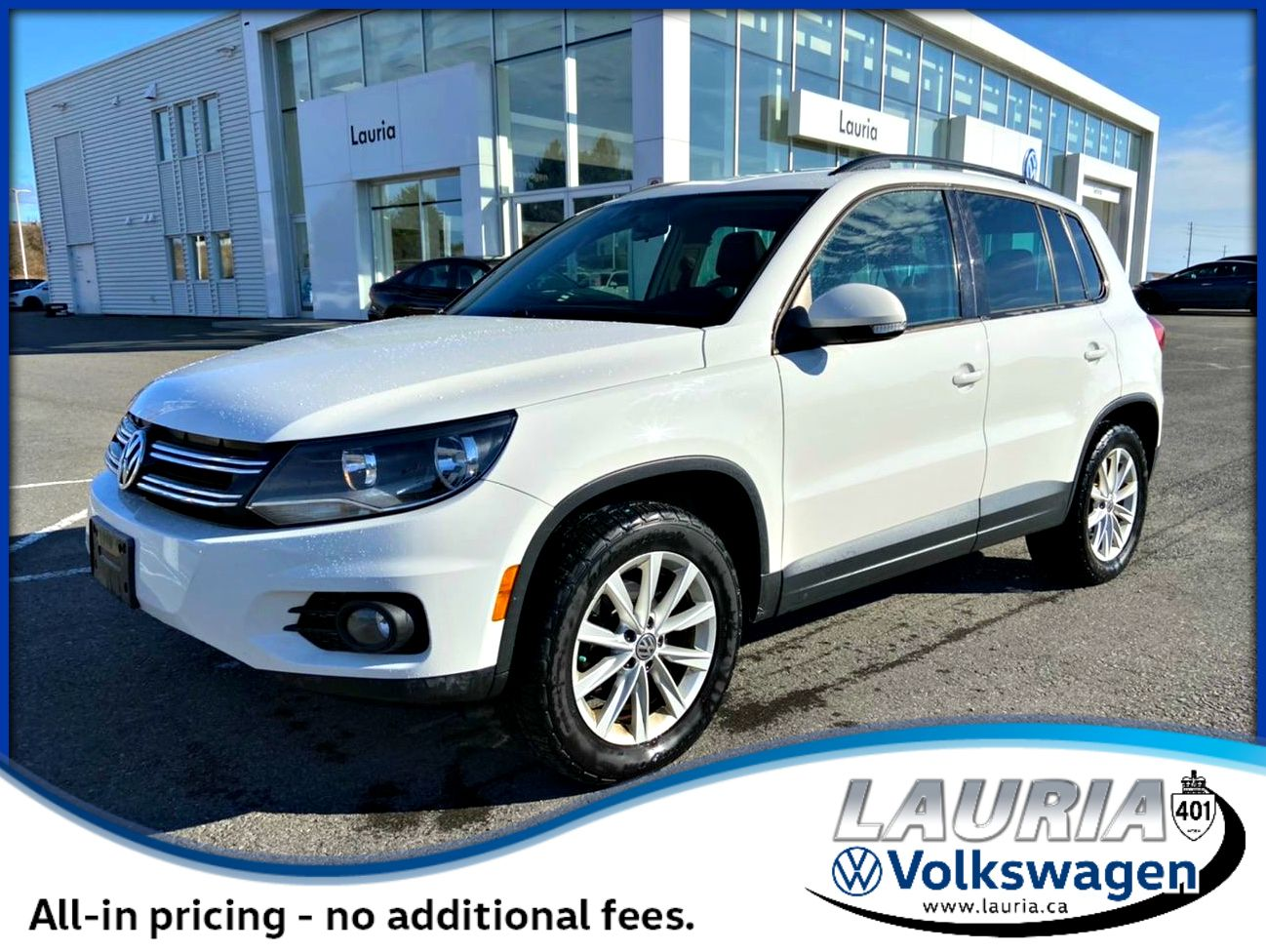 Pre-Owned 2012 Volkswagen Tiguan Comfortline 4Motion AWD - LOW KMS