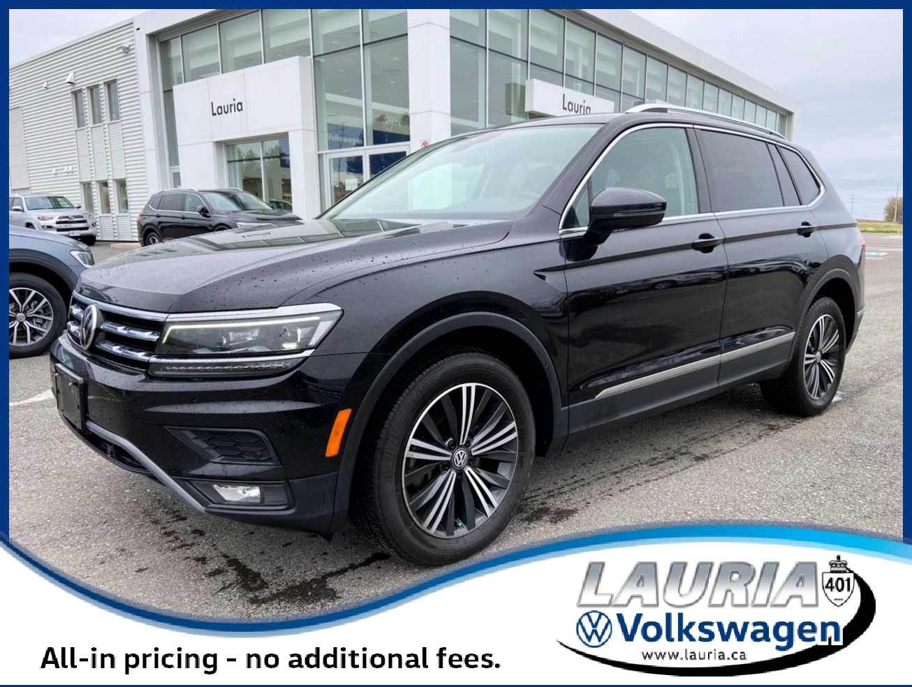 Pre-Owned 2018 Volkswagen Tiguan 2.0T Highline 4Motion AWD - LOADED!
