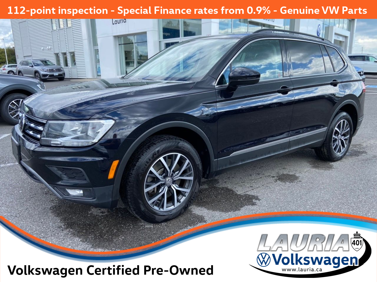 Certified Pre-Owned 2019 Volkswagen Tiguan 2.0T Comfortline 4Motion AWD - LOW KMS