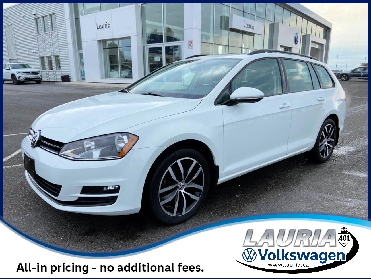 Certified Pre-Owned 2017 Volkswagen Golf SportWagen Comfortline FWD - LOW KMS