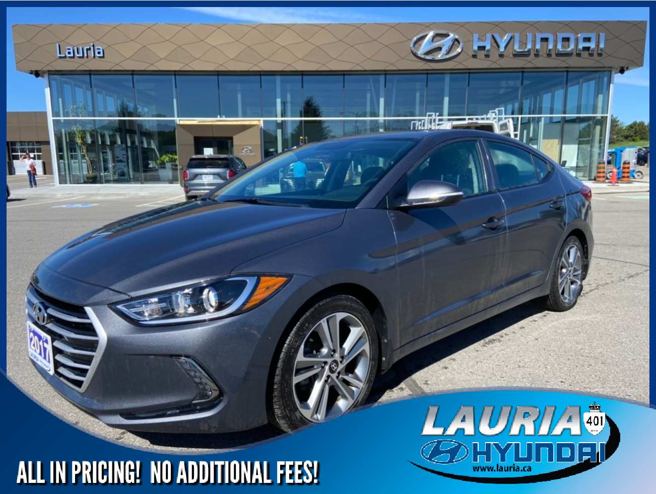 Certified Pre-Owned 2017 Hyundai Elantra GLS Auto - ULTRA LOW KMS