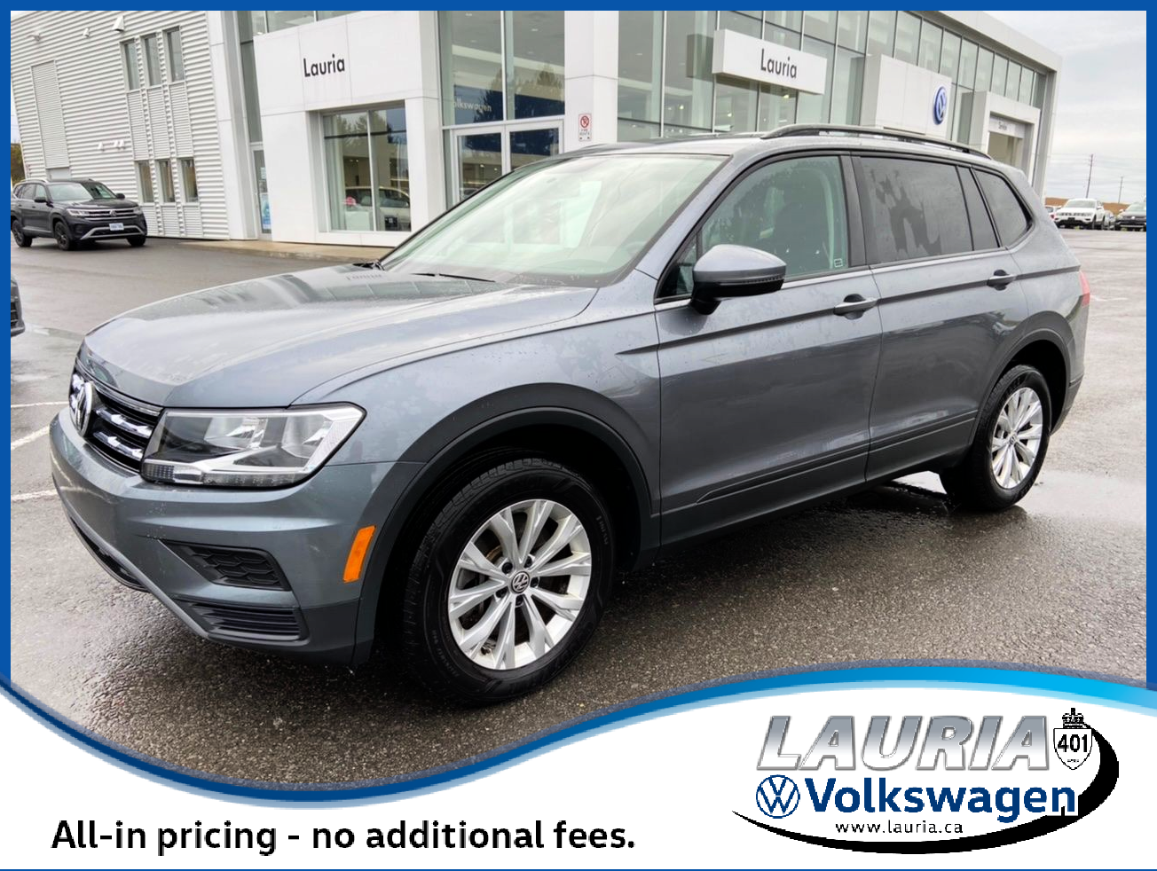 Certified Pre-Owned 2019 Volkswagen Tiguan 2.0T Trendline 4Motion AWD - LOW KMS