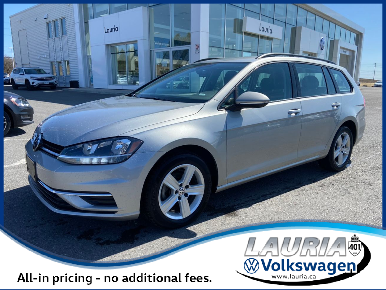 Certified Pre-Owned 2019 Volkswagen Golf SportWagen Comfortline 4Motion AWD - LOW KMS