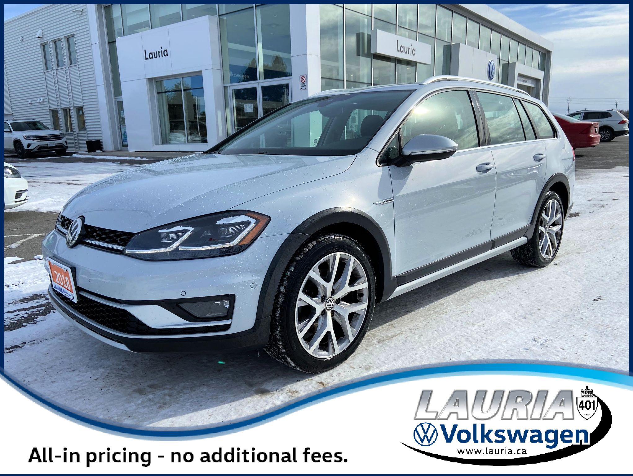 Pre-Owned 2018 Volkswagen Golf Alltrack 4Motion AWD - Leather / Panoramic sunroof