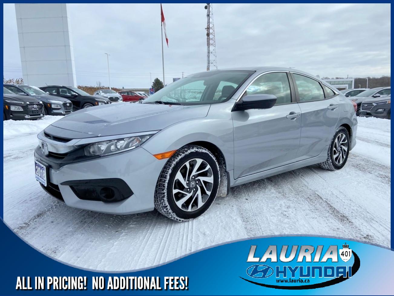 used 2018 Honda Civic Sedan car, priced at $16,385